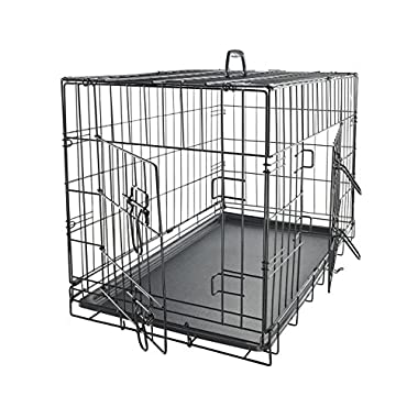 OxGord 42  XXL Dog Crate, Double-Doors Folding Metal w/ Divider & Tray   42  x 27  x 30    2016 Newly Designed Model