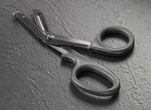 "Tactical Black Set of 2 pcs Black EMT First Responder 7.5"" Shears + Black Pen Light Ideal for all types of Emergency"