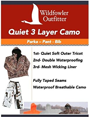 Wildfowler Outfitter Camo Hunting Waterproof Pants