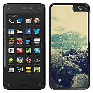 TopCaseStore / la caja del caucho duro de la cubierta de protección de la piel - Sea Hills Beach Winter Snow - Amazon Fire Phone