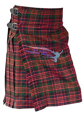 Scottish Men's MacDonald 5 Yard & 13Oz Tartan Kilt - Tartan Kilts (5 Yard Wool Kilt)