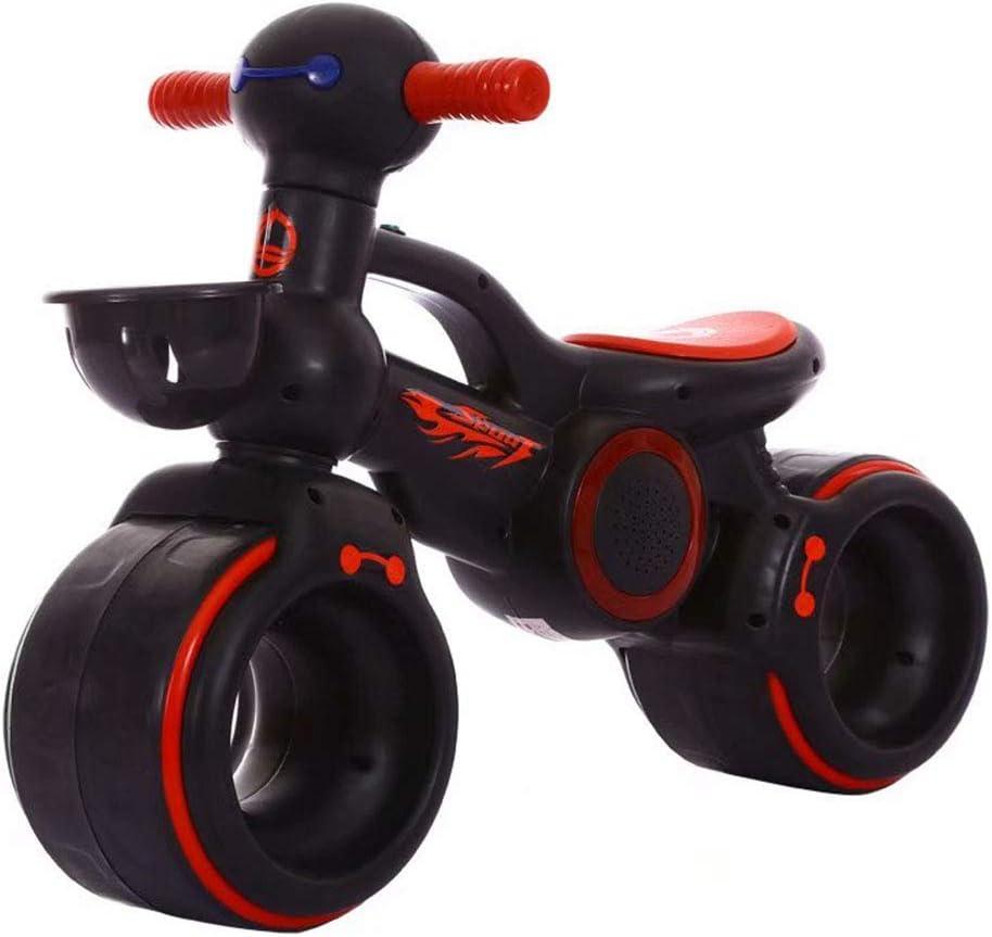 RXRENXIA Bebé Bicicleta De Equilibrio, Andar En Bicicleta En Adelante, Los Niños De Bicicletas, Bicicletas De 4 Ruedas De Deslizamiento, Triciclo Niño Walker Color Rojo 1-3 Años