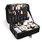 Becko Large Professional Cosmetic Bag Portable Travel Makeup Organizer Case Box for Artist, Actor, Model on Fashion Show, Stage