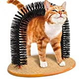 Irispets Arch Cat Groom Self Grooming Cat Toy Cat Self Groomer - Massager and Cat Scratcher with Cat Charmer Cat Wand Toy