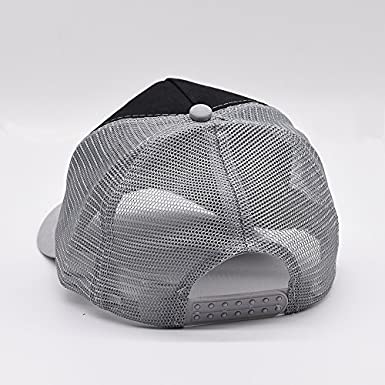 Nichildshoes hat Mesh Cap Hat for Men Women Unisex Print Donuts Flag