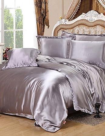 Set Bettwäsche Seide Textilien Für Die Haus Doppelbett Queen Size