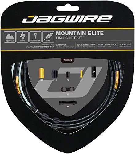 Jagwire Mountain Elite Link Shift Cable Kit Limited Edition Stealth, One Size