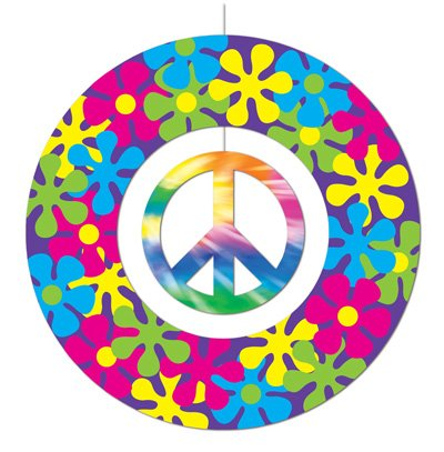 Peace Sign Mobile Party Accessory (1 count) - 70s Items