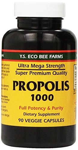 - YS Eco Bee Farms Propolis 1000 - 90 Caps - Pack of 2
