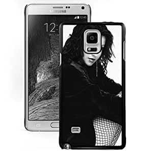 NEW DIY Unique Designed Samsung Galaxy Note 4 Phone Case For Christina Aguilera Mesh Stockings Phone Case Cover