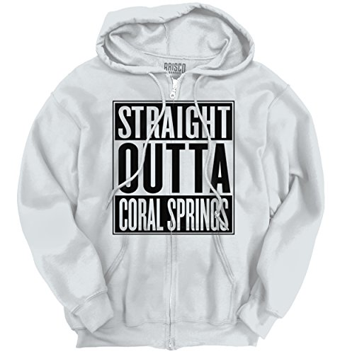 Straight Outta Coral Springs, FL City Movie T Shirt Gift Ideas Zipper Hoodie (Party City In Coral Springs)