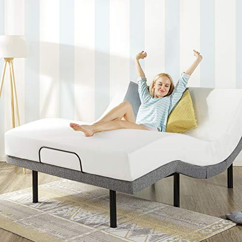 Mellow Genie 500 Adjustable Bed Base Twin XL - Unique Added Head Tilt / Wireless Remote Control / 5 Minute Tool-Free Assembly / Dual USB Charging Ports