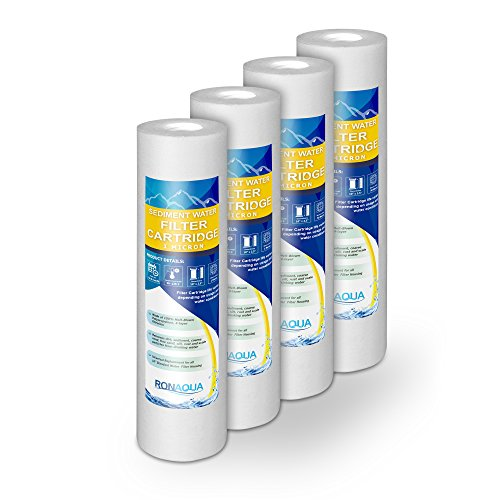 1M-4PK 1-Micron Sediment Water Filter Cartridge, 4-Pack ()