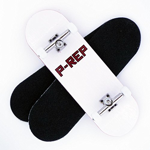 Price comparison product image P-Rep FP 30mm Graphic Complete Wooden Fingerboard w CNC Lathed Bearing Wheels …
