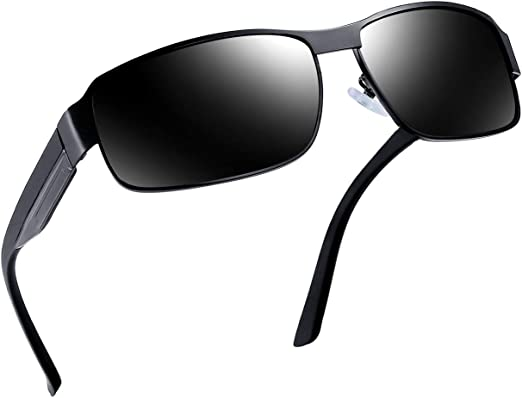 sunglasses POLAROID polarized plastic and metal mirrored