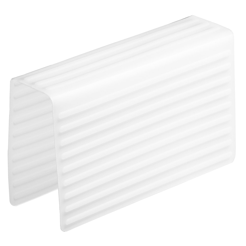 InterDesign Lineo Tappetino Divisore Lavandino, Plastica, Trasparente, 21x5.5x12 cm 64180 bicchieri divisore lavello graffi lavabile in lavastoviglie padelle pentole piatti posate proteggere pulizia resistente al calore silicone