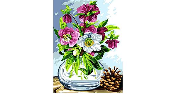 SEG de Paris Verrine DEte dise/ño de flores de verano Kit de tapicer/ía y punto de aguja