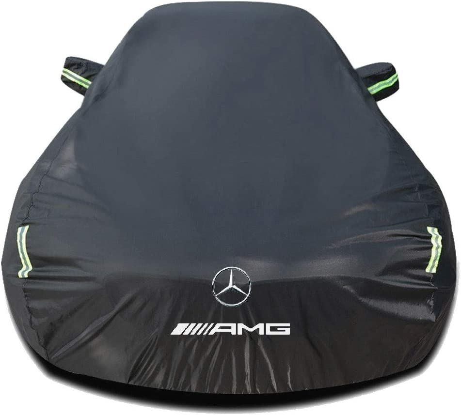 All Weather Car Hood Full Exterior Covers Outdoor Black//Silver Auto Cover Waterproof Tarpaulin with Storage Bag Whitejianpeak Car Cover Compatible with MERCEDES-BENZ CLS 53 AMG//CLS 53 4MATIC AMG
