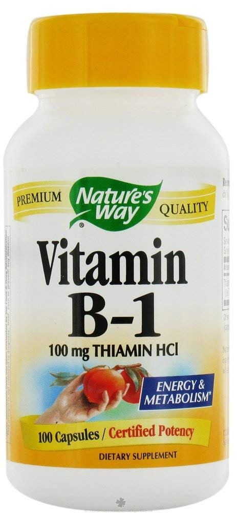 Nature's Way Vitamin B-1 100 Mg - 100 Capsules ( 12-Pack)