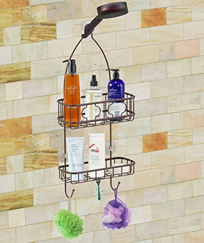 Hanging shower caddy organizer