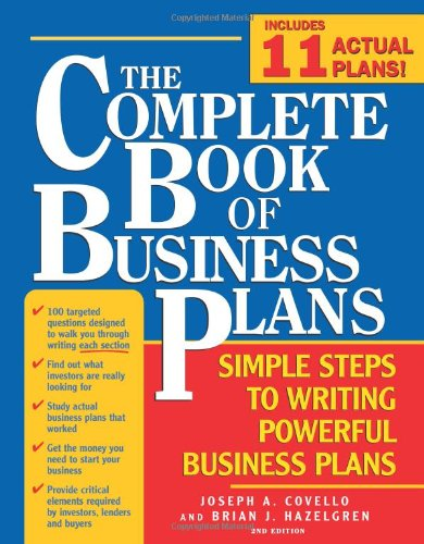 Amazon.Com: The Complete Book Of Business Plans: Simple Steps To