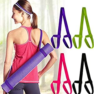 Yoga Mat Carry Rope,Nesee Mat Strap Sling Adjustable Made Two-Way Elastic Yoga Mat Straps with Yoga Straps Exercise Mat…