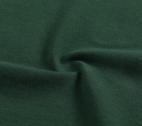 Skater Al Lunghezza Femminile Equipaggio Verde Maniche Vestito Pintage Del Ginocchio Breve Collo tY8q7ww