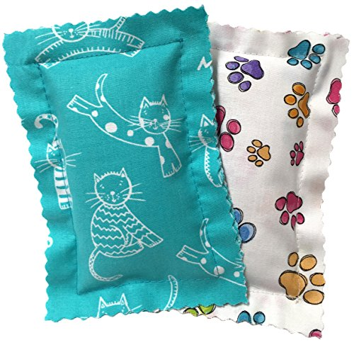 Picture of Johnson Pet Products Catnip Pillows Two Pack Turquoise - Handmade in the USA