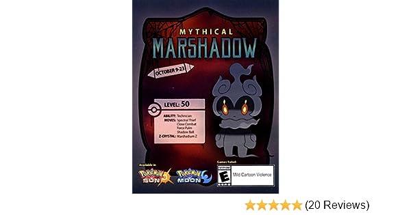 Mew Qr Code Sun And Moon Amazon Com Gamestop Marshadow Code Pokemon