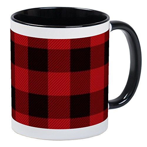 - CafePress Cottage Buffalo Plaid Lumberjack Mugs Unique Coffee Mug, Coffee Cup