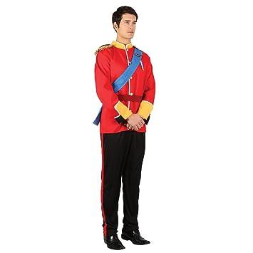 Vestido de traje de soldado de juguete de lujo para hombre guapo adultos traje de príncipe azul - media - 104cm