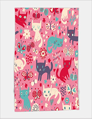 Minicoso Bath Towel funny cats cartoon seamless pattern for children background colorful wallpaper with cats 111023531 For Spa Beach Pool Bath