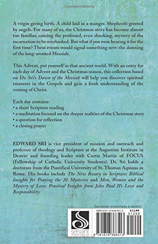 the advent of christ scripture reflections to prepare for christmas edward sri 9781616366513 amazoncom books