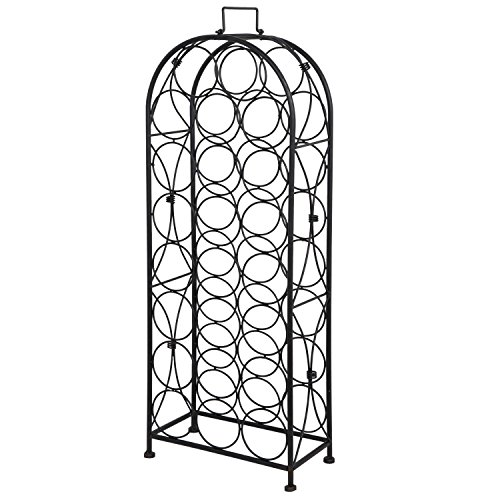 33 INCHS METAL WINE RACK ARCHED WINE HOLDER