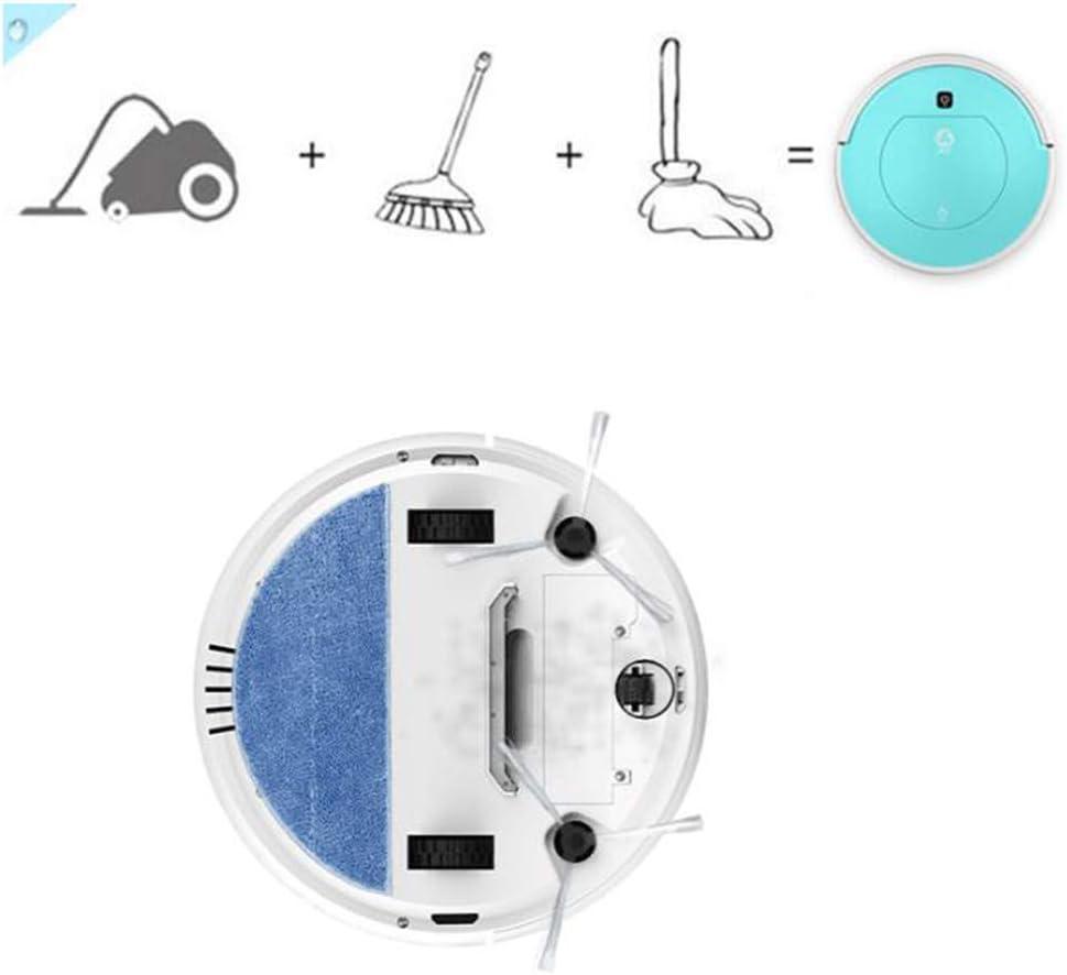 ASIAKK Aspirateur Robot 2 en 1, Robot Aspirateur Laveur avec Système de Nettoyage Puissant, Moquettes et Sols Durs Blue