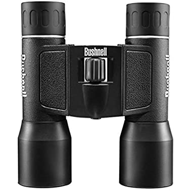 Bushnell PowerView 16x 32mm Compact Folding Roof Prism Binocular (Black)