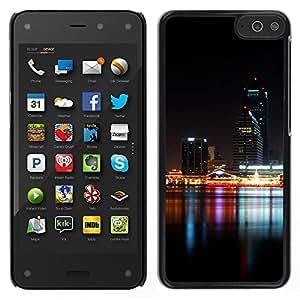 LECELL--Funda protectora / Cubierta / Piel For Amazon Fire Phone -- Noche Tiempo Moderno River City --