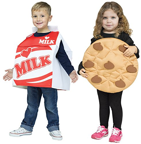 Child Milk Costumes (UHC Cookie & Milk Outfit Fancy Dress Toddler Halloween Costume, Toddler L (3T-4T))