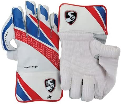 SG Super Club Wicket Keeping Gloves Mens Size for Cricket