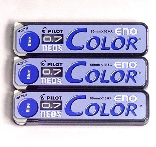 Pilot Color Mechanical Pencil Lead Eno, 0.7mm, Blue, 10 Lead ×3 Pack/total 30 Leads (Japan Import) [Komainu-Dou Original Package] - Lead Refill Pack