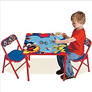 Mickey Mouse Clubhouse Capers Erasable sturdy metal tubular construction protect floor surfaces Activity Table Set Toy from Mickey