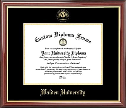 Amazon.com : Walden University - Embossed Seal - Mahogany Gold Trim ...