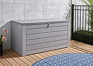 Cosco 87180GCG1E Deck Garden Storage Box, Gray