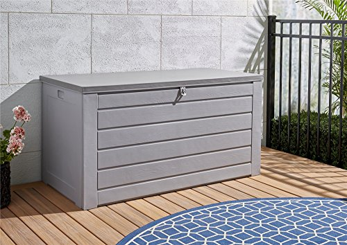 Cosco Outdoor Living 87180GCG1E Deck Garden Storage Box, Gray