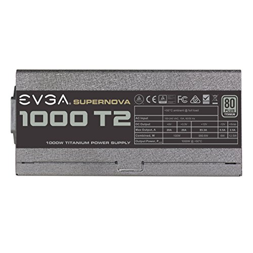 EVGA SuperNOVA 1000 T2, 80+ TITANIUM 1000W, Fully Modular, EVGA ECO Mode, 10 Year Warranty , Includes FREE Power On Self Tester, Power Supply 220-T2-1000-X1 by EVGA (Image #5)