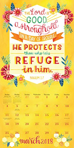 The Illustrated Bible Verses Wall Calendar 2018