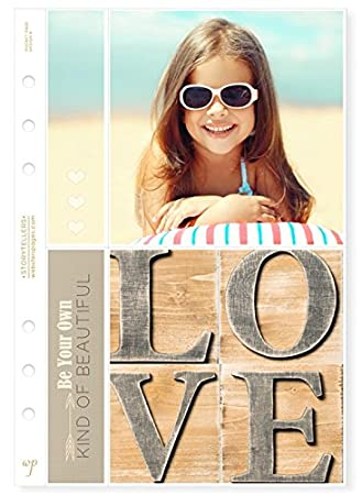 Websters Pages A5 Planner Photo Sleeves Design E 8-pk P1026