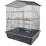 You&Me Gable Playtop Parrot Habitat, 24.75'' L X 20.75'' W X 32'' H, 24.75 IN, Grey