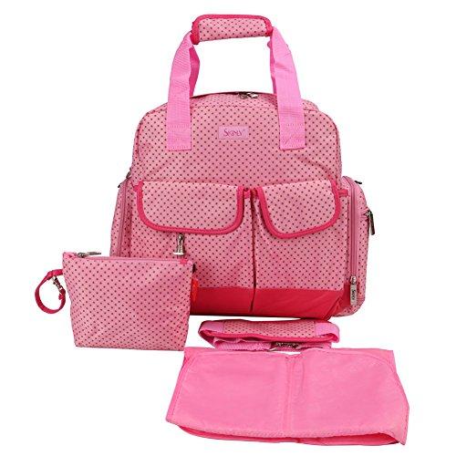 Hot Pink Black Diaper Bags - 8