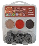 Ruby Red Paint, Inc. Face Paint, 2ML X 3 Colors - Thanksgiving Stamp